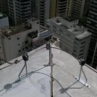 Instalação elétrica para raio